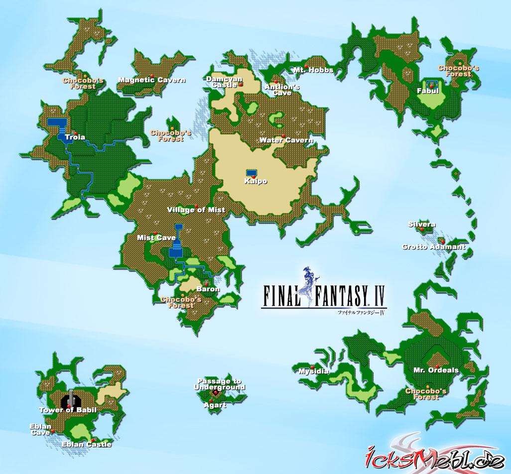 Weltkarte :: Final Fantasy IV :: icksmehl.de
