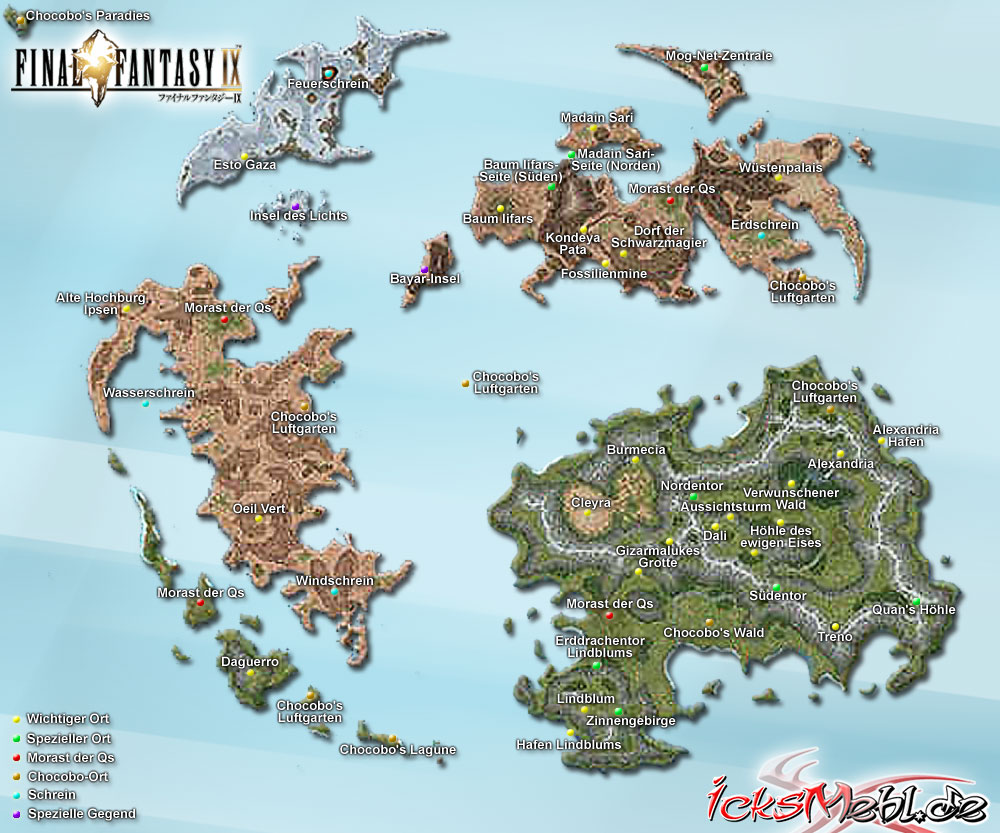 Weltkarte :: Final Fantasy IX :: icksmehl.de