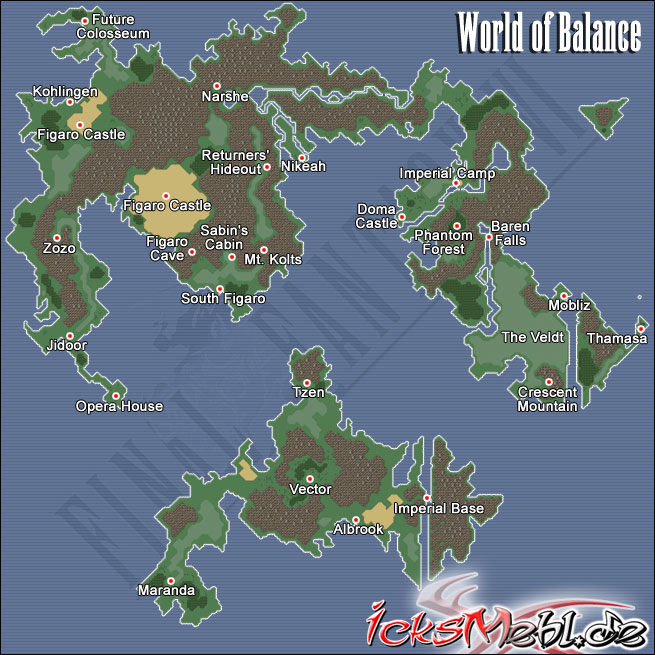 Weltkarte :: Final Fantasy VI :: icksmehl.de