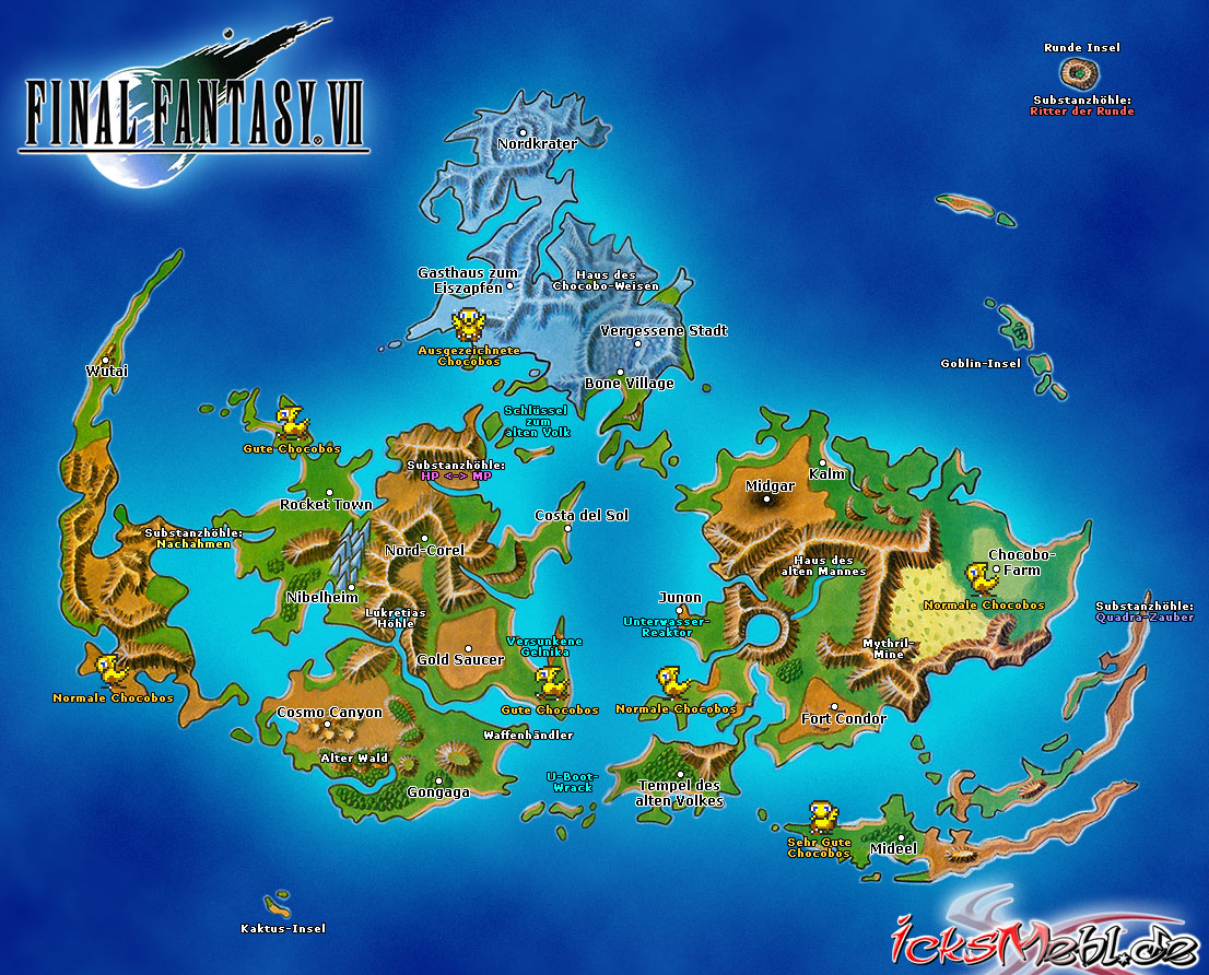 Weltkarte :: Final Fantasy VII :: icksmehl.de
